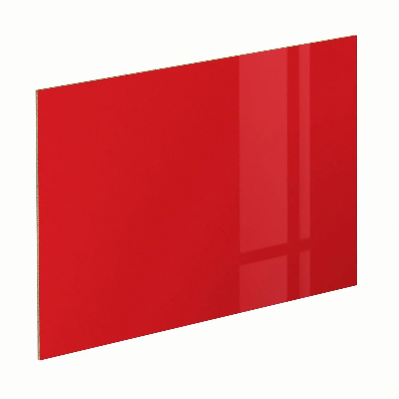 V P Produits Panneau Glossy Rouge Spaceo L X H Cm E