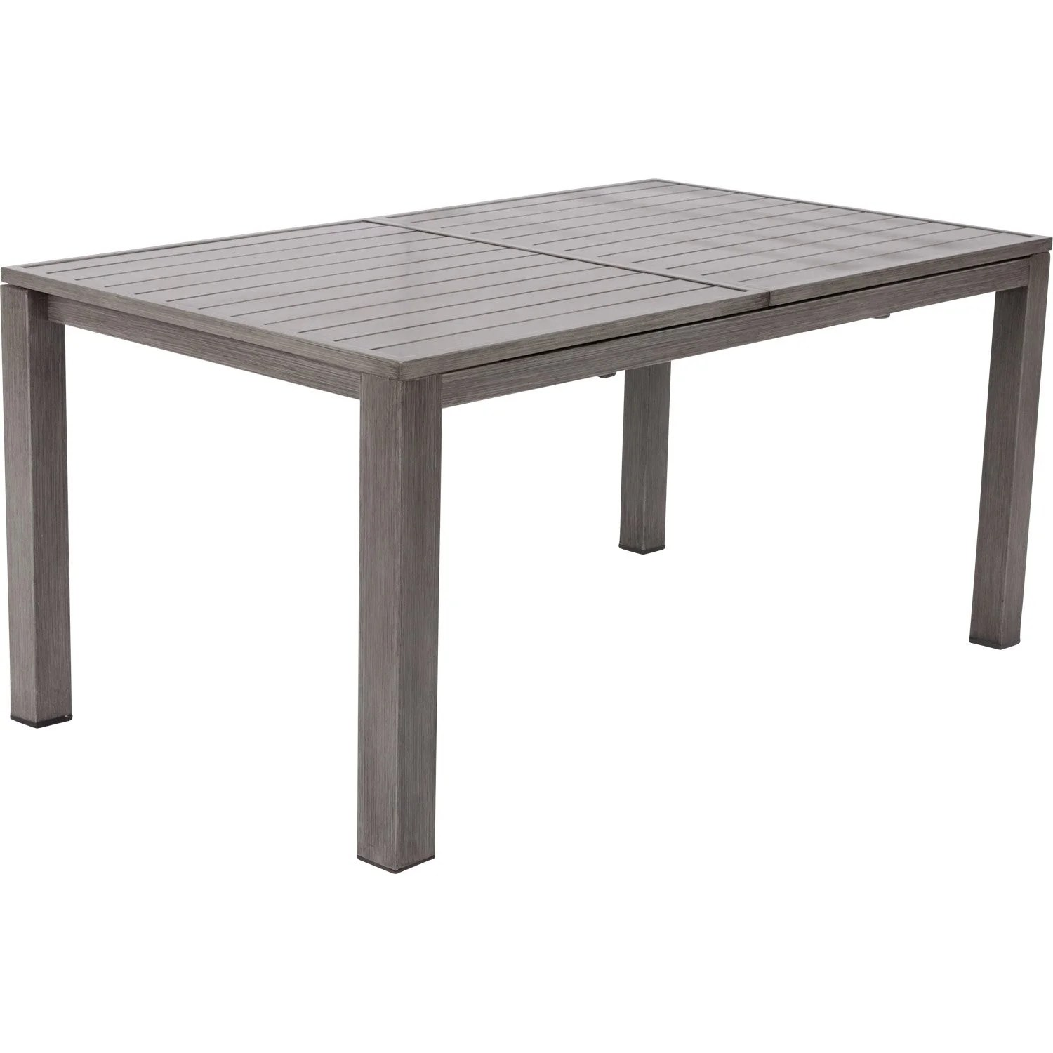 Table de jardin NATERIAL Antibes rectangulaire gris look bois 68 personnes  Leroy Merlin
