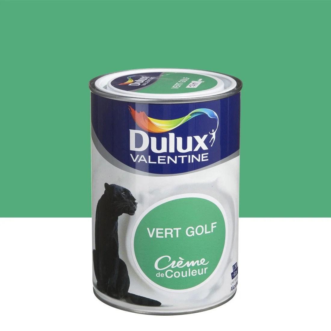 Peinture Vert Golf DULUX VALENTINE Crme De Couleur 125 L
