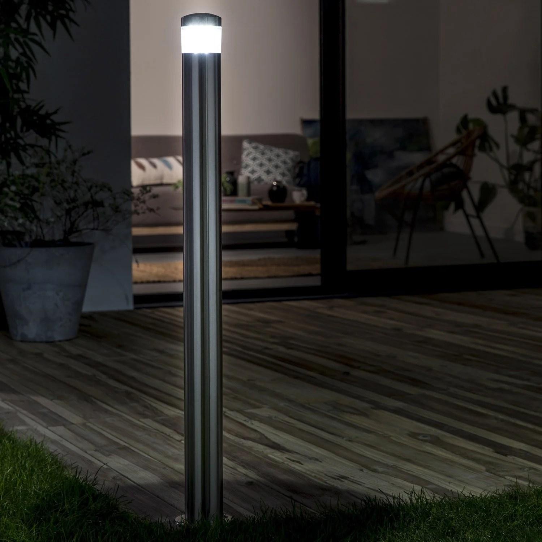 Potelet extrieur Valencia LED intgre 7 W  400 Lm acier INSPIRE  Leroy Merlin
