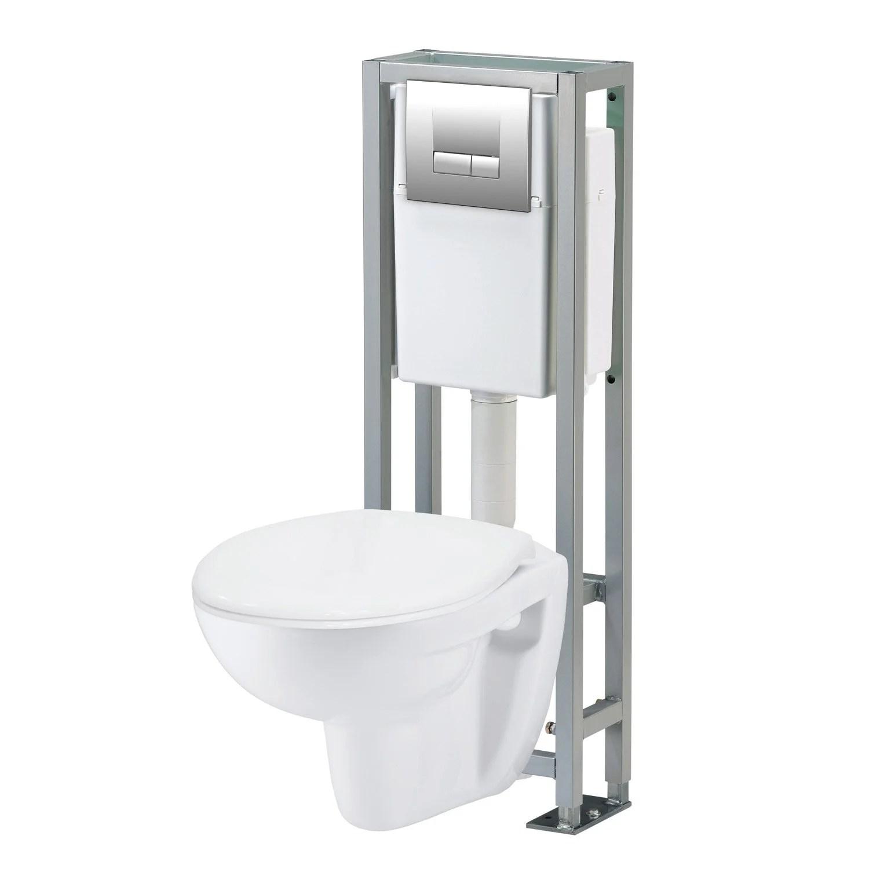 Pack WC suspendu bti sol Actua 7  Leroy Merlin