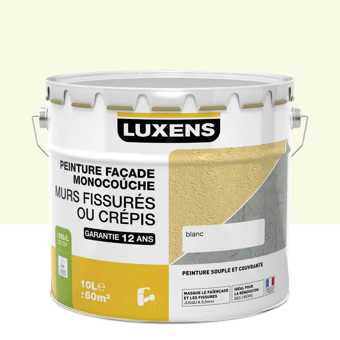 Peinture faade Murs fissurs LUXENS meulire 10 l  Leroy Merlin