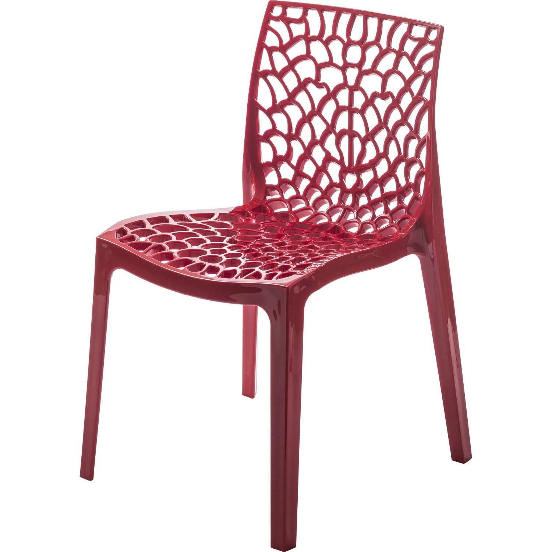 Chaise de jardin en rsine Grafik rouge  Leroy Merlin