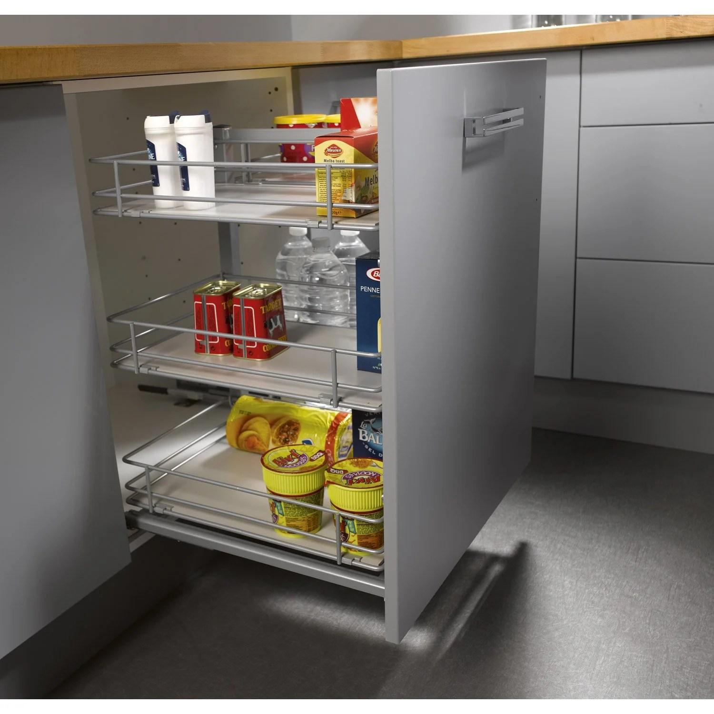 cuisine rangement coulissant latest les tiroirs peuvent aussi se loger dans des niches ds cm. Black Bedroom Furniture Sets. Home Design Ideas