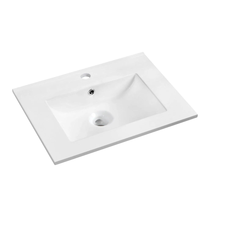 Plan Vasque Simple Dado Ceramique Cm