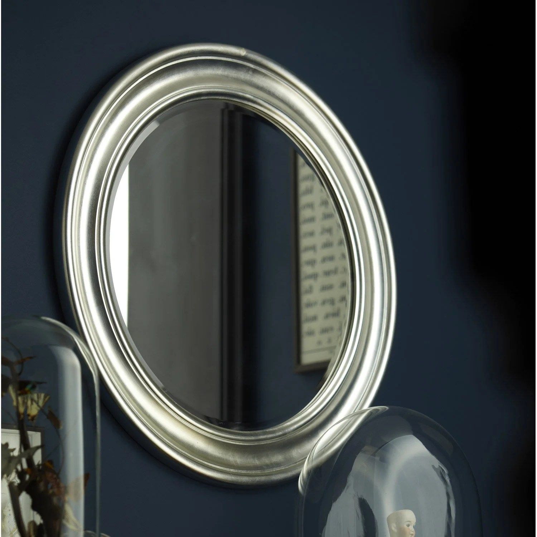 V P Produits Miroir Daventry Rond Argent L X H Cm E