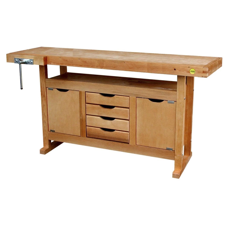 cuisine avec plan de travail en bois
