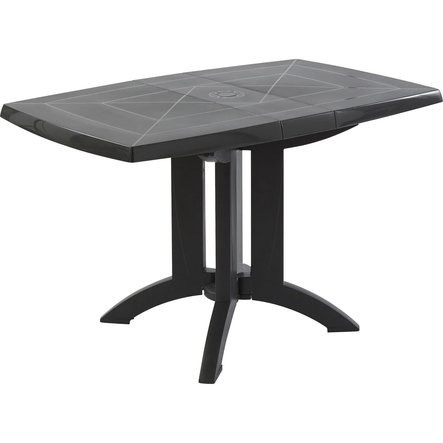 Table de jardin GROSFILLEX Vga rectangulaire anthracite 4 personnes  Leroy Merlin