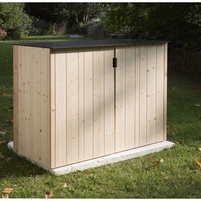 Abri De Jardin Composite coffre de rangement bois l castorama | picstrue