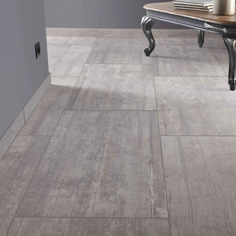 Carrelage sol et mur gris clair effet bton Industry l45 x L90 cm  Leroy Merlin