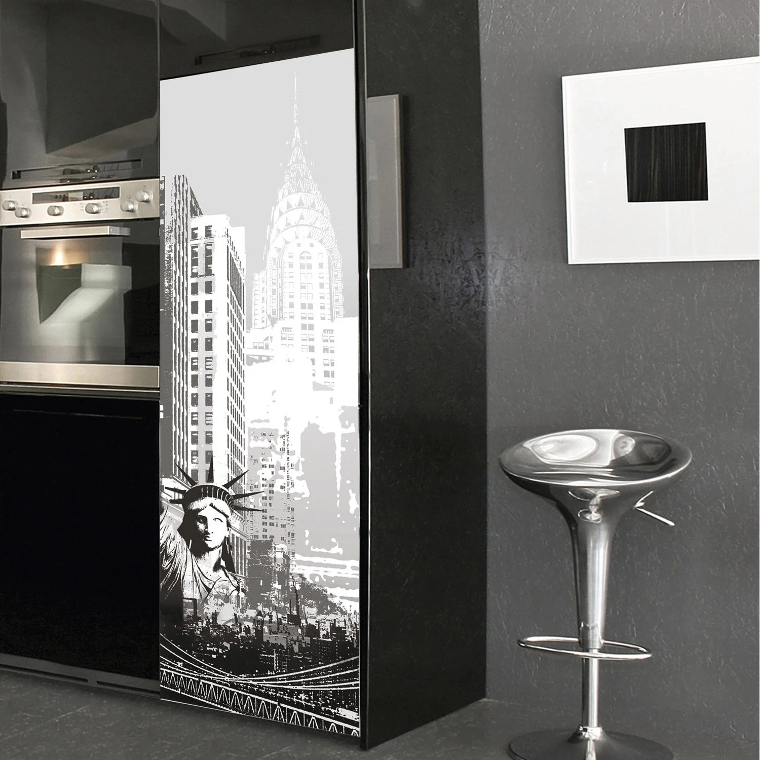 Sticker Rfrigrateur New York 595 Cm X 180 Cm Leroy Merlin