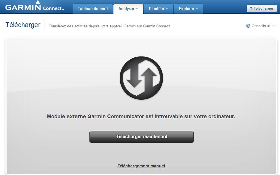 COMMUNICATOR GARMIN TÉLÉCHARGER LE MODULE EXTERNE