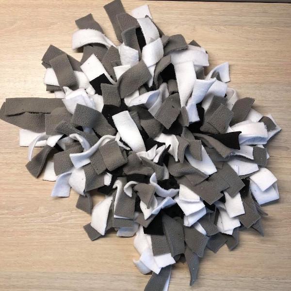 tapis de fouille noir blanc gris 20cm x 30cm