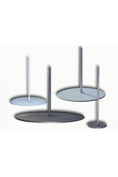 round metal base 25 cm lamp base