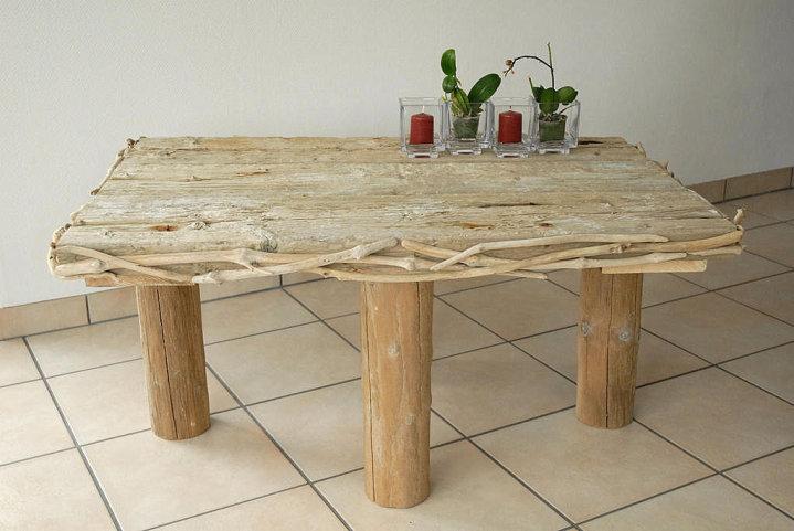 Tables bois flott 7 les bois flott s de sophie for Magasin de bois flotte