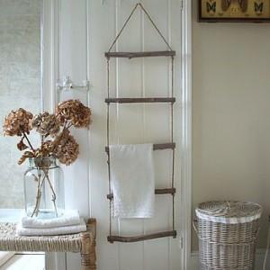 Porte serviettes bois flotté