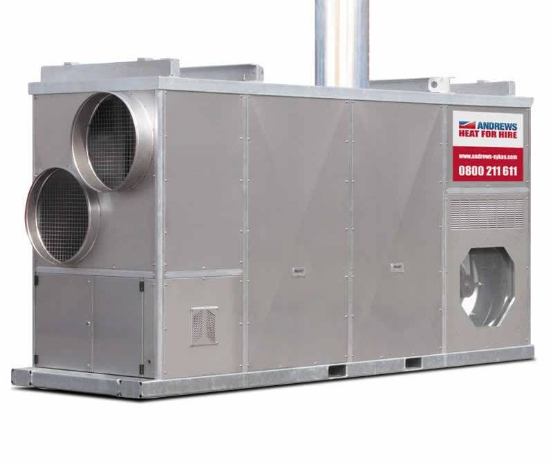 Les moyens de chauffage d'un bâtiment industriel