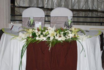Table des maris  Espace Les Colonnades  Salle de rception  Salle de mariage  Domaine