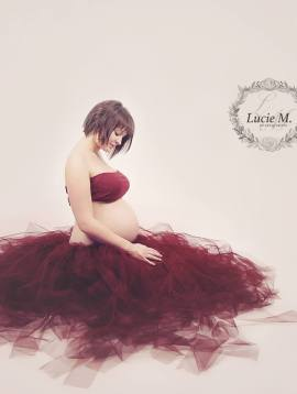 Ensemble tulle shooting grossesse