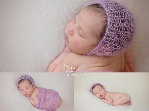 ensemble wrap et bonnet mohair