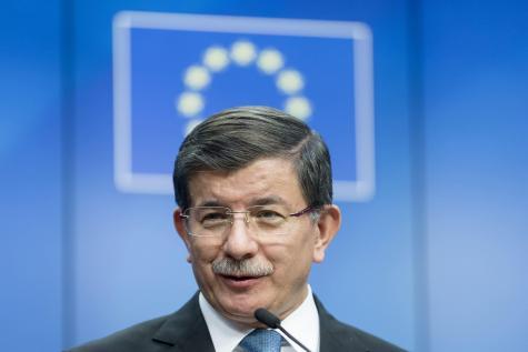 Le premier ministre turc Ahmet Davutoglu. © Photo News