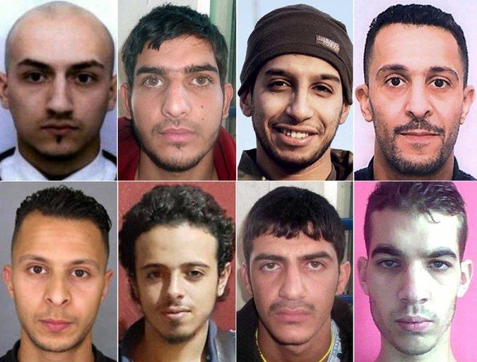L'équipe des membres de l'État islamique qui ont attaqué Paris en novembre. Agence France-Presse - Getty images