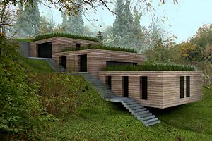 maison en bois ossature ecologique