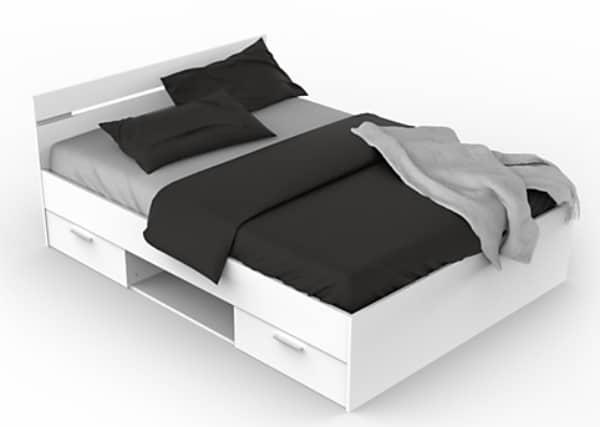 lit blanc 2 places avec rangement