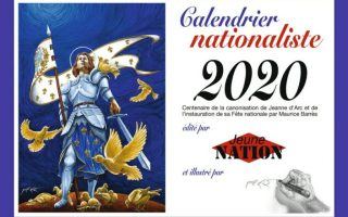 calendrier nationaliste 2020