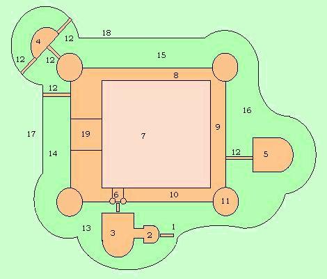 Plan du château de Salses