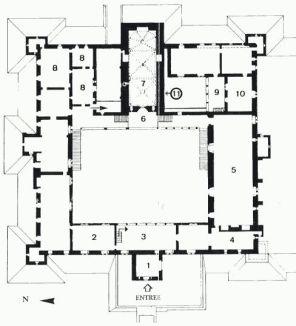 Plan du palais des rois de Majorque