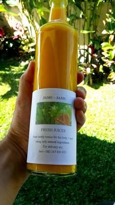 Le secret du Jamu de Jero : un remède de grand-mère. Bouteille de jamu