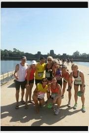 Angkor Wat : semi marathon en terre d'aventure. Le groupe