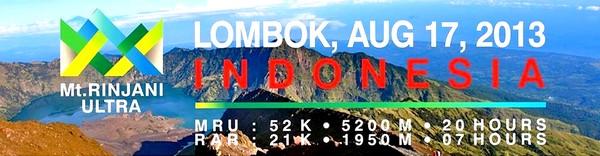 Mont Rinjani, compétition ultra trail 2013 à Lombok Promo Rinjani