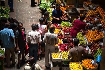 Voyager à Maurice tout en restant végétarien : yes we can! Marché à Port Louis