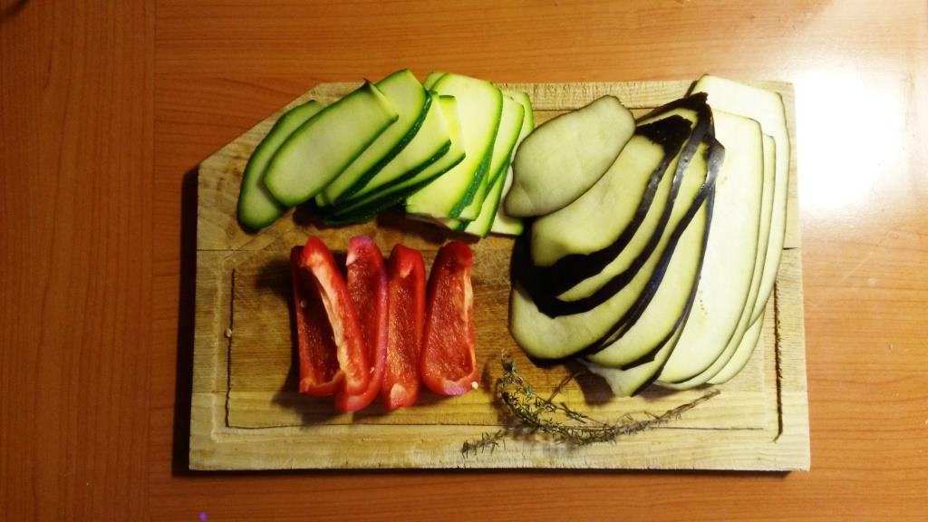 Légumes découpés