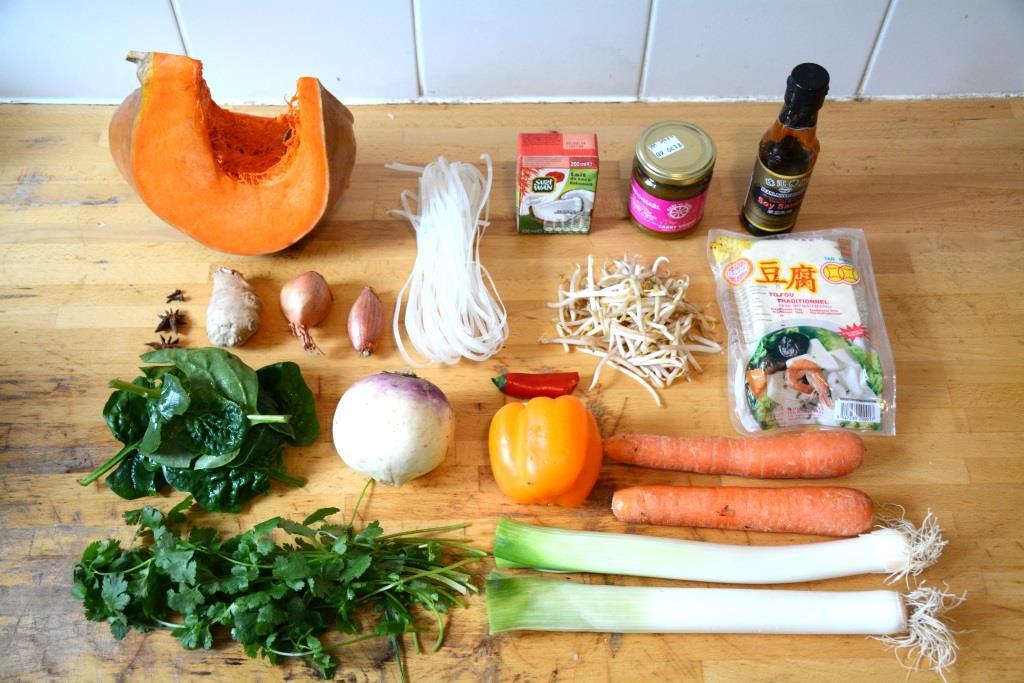 1. soupe ingrédients