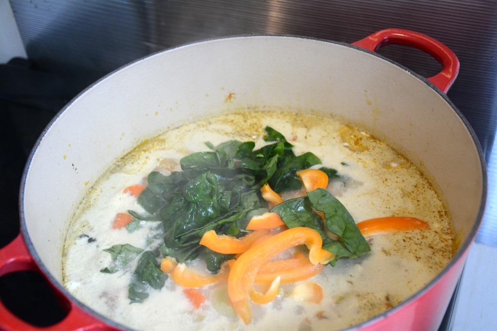 3. soupe epinard lait de coco