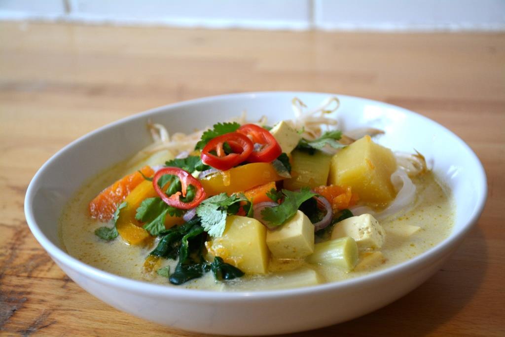 4. soupe vegan au lait de coco