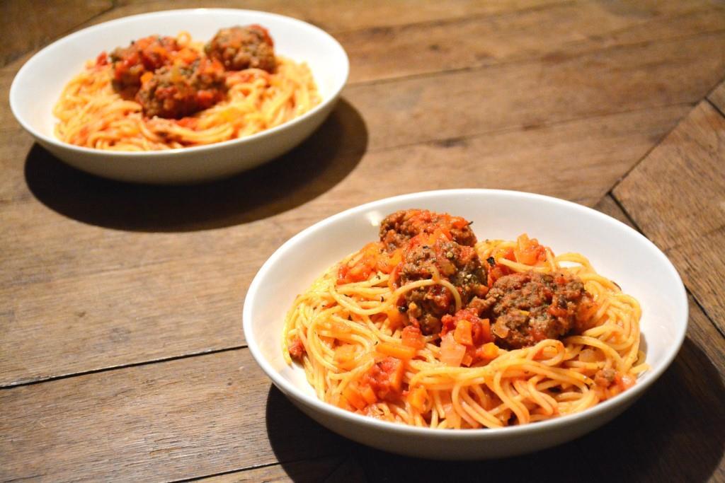 7. spaghetti meatballs