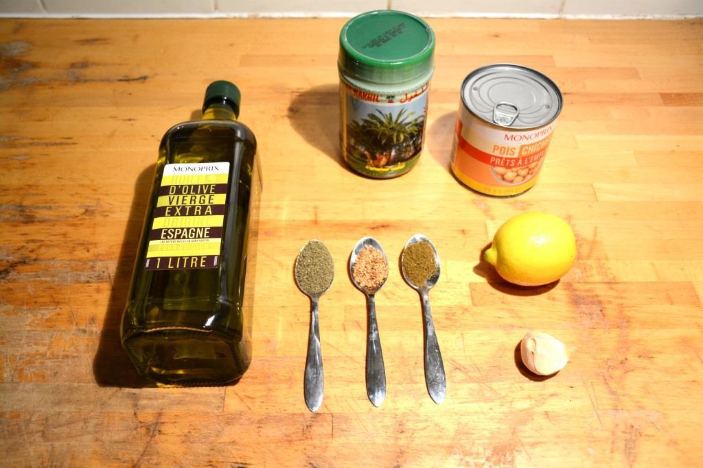 1. ingrédients houmous