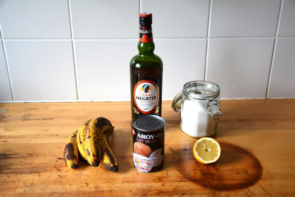 1. confiture banane coco rhum ingrédients