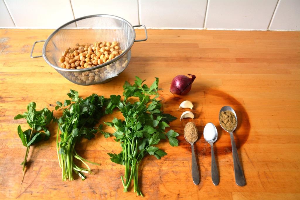 1. ingrédients falafel
