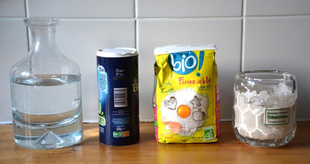 1. Ingrédients pain au levain