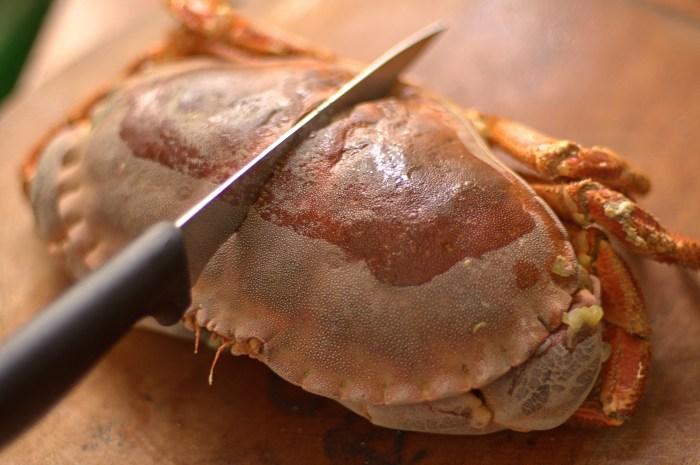 decoupe du crabe
