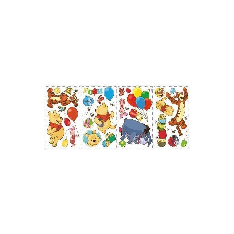 winnie lourson stickers muraux repositionnables