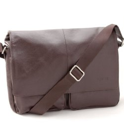 BOVARI-Messenger-en-cuir-Sac-bandoulire-sac-port-paule-35x27x8-cm-Model-London-marron-0