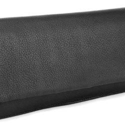 BOVARI-XL-Portefeuille-et-porte-monnaie-femme-20x11x3-cm-cuir-de-veau-supermou-noir-0