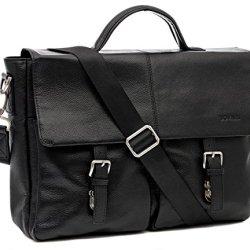 BOVARI-Messenger-en-cuir-Sac-bandoulire-39x30x10-cm-Model-Manhattan-noir-0