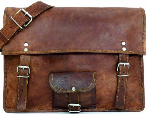 Hommes Femmes en cuir véritable sacoche Messenger sac d/'épaule sac d/'ordinateur portable Cabine Sac à main